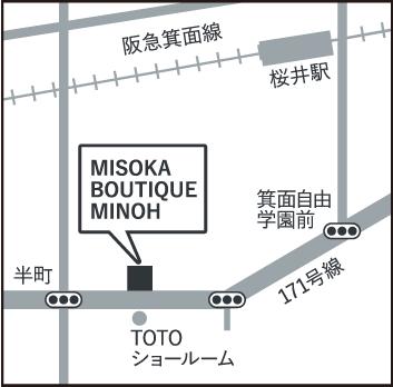ミソカ歯ブラシ MISOKA販売店 MAP