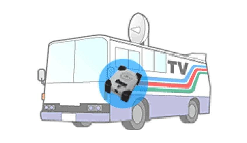 テレビ中継車の振動記録