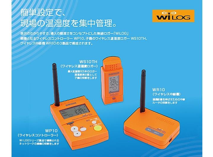 WiLOG(ワイヤレス温湿度ロガー)