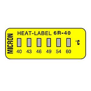 ヒートラベル 6Rシリーズ (小型・6点式)示温材