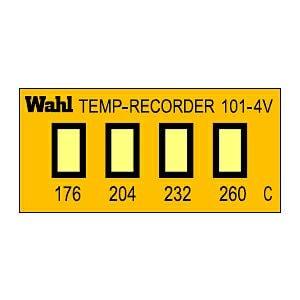 テンプ・プレート 真空用 101-4Vシリーズ(4点式・小型)示温材