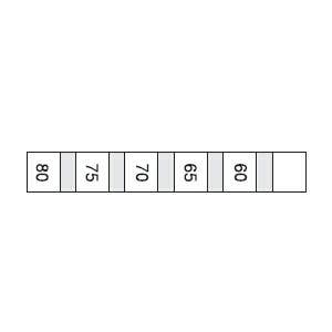 サーモラベル S(温度履歴がわかる・5点式)示温材