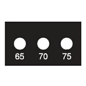 サーモラベル スーパーミニ 3K(3点式・小さな部品)示温材