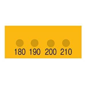 真空用サーモラベル(温度分布・最高温度がわかる・4点式)示温材
