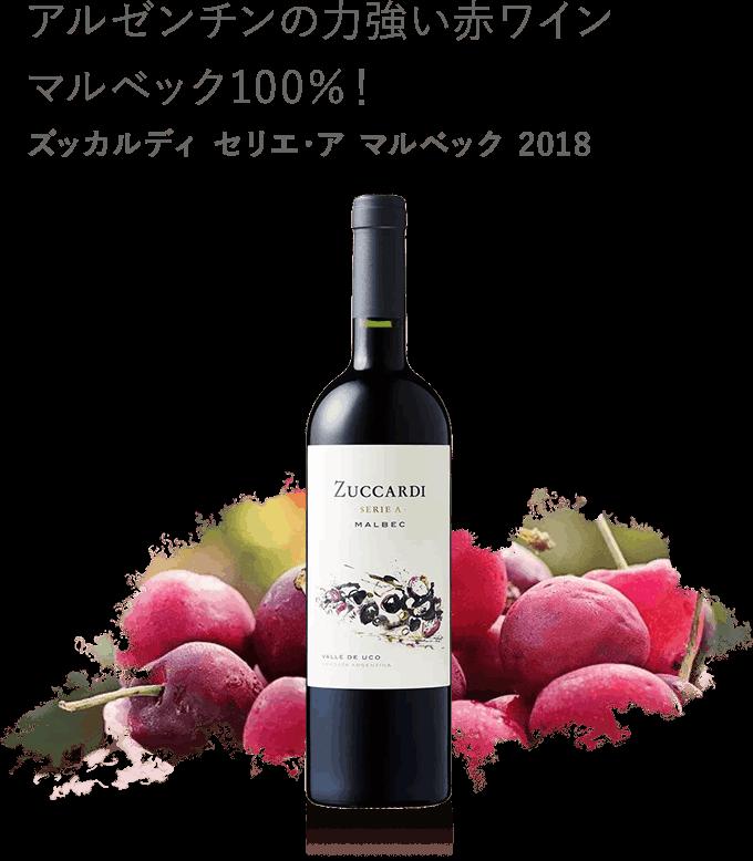 アルゼンチンの力強い赤ワイン マルベック100%!