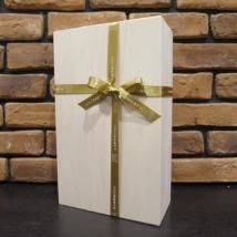 ワイン2本箱(木箱+オリジナルリボン)