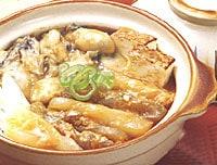 こんにゃくと牡蠣の土手鍋
