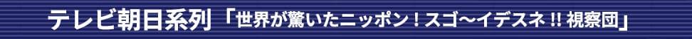 テレビ朝日系列「世界が驚いたニッポン!スゴ〜イデスネ!!視察団」